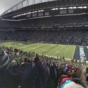 Seahawks game in progress (StreetView)