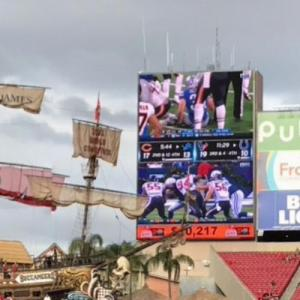 Houston Texans vs. Indianapolis Colts on Jumbo-Tron, Raymond James Stadium (StreetView)