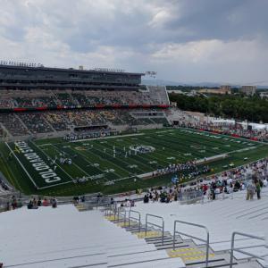 Football game at Canvas Stadium (StreetView)