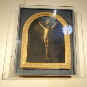 """Christ on the Cross"" by Rembrandt van Rijn (StreetView)"