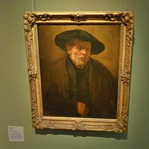 """Old man with a Beret"" by Rembrandt van Rijn (StreetView)"