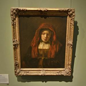 """""""Portrait of an Old Woman"""" by Rembrandt van Rijn (StreetView)"""