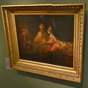 """Ahasuerus and Haman at the Feast of Esther"" by Rembrandt van Rijn (StreetView)"