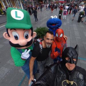 Three Heroes, One Traveler, One Monster (StreetView)