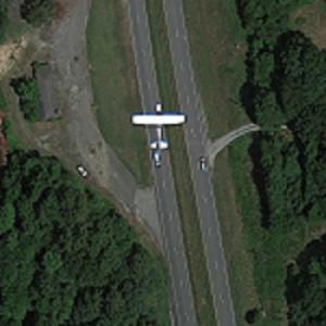 Plane in Flight (Google Maps)