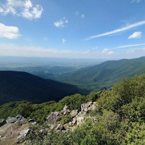 View From Hawksbill Mountain In Luray, VA (Google Maps