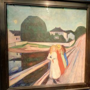 """The Girls on the Bridge"" by Edward Munch (StreetView)"