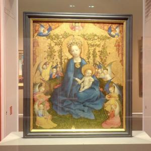 """Madonna of the Rose Bower"" by Stefan Lochner (StreetView)"