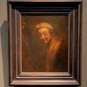 """Self-Portrait as Zeuxis Laughing"" by Rembrandt van Rijn (StreetView)"