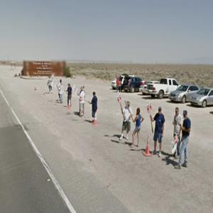 Workers on Strike Outside Andrews Air Force Base (StreetView)