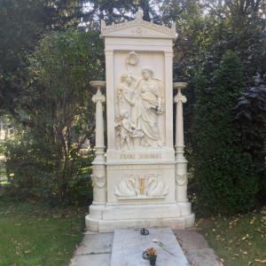 Franz Schubert's grave at Vienna's Zentralfriedhof (StreetView)