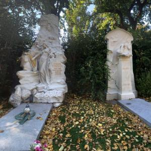 gravesites of Johann Strauss Jr and Johannes Brahms (StreetView)