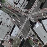 """War of the worlds"" cross where alien warship rise up (Google Maps)"