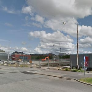 Karlatornet (tallest building in Sweden) under construction (StreetView)