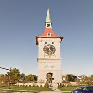 Zytglogge replica in Berne, Indiana (StreetView)