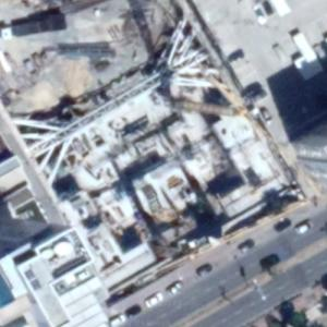 One (tallest building in Cyprus) under construction (Google Maps)