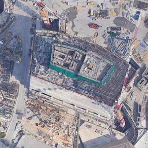 'PwC Tower' by Daniel Libeskind under construction (Google Maps)