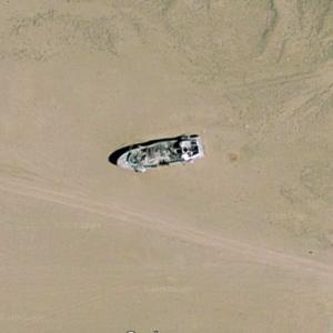 Bombing Target Ship at NAWS China Lake, CA (Google Maps)
