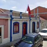 Moita local Portuguese Communist Party HQ with flag
