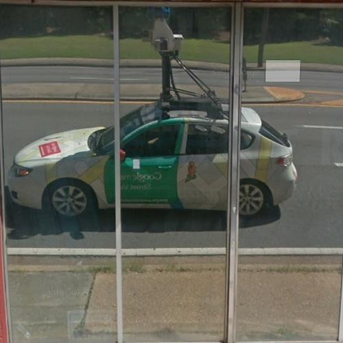 Reflection Of The Google Street View Car In Tallahassee Fl