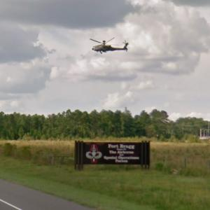 Helicopter over Fort Bragg (StreetView)