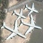 Airplane Cemetery at Eduardo Gomez Int'l Airport (MAO / SPEG) (Google Maps)