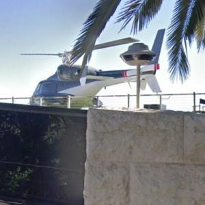 Airwolf Helicopter on Roof of Bel Air Mansion (StreetView)
