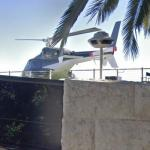 Airwolf Helicopter on Roof of Bel Air Mansion