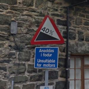 Driving down the steepest road in the World, Ffordd Pen Llech (StreetView)