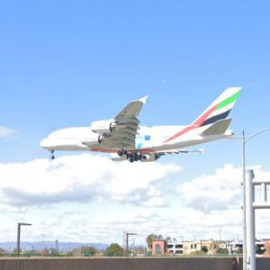 """Emirates Airbus A380-861 """"Expo 2020 Blue"""" [A6-EOF] (StreetView)"""