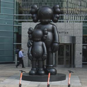 'WAITING' by KAWS (StreetView)