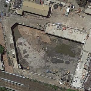 Aspire Tower under construction (Google Maps)