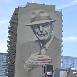 Leonard Cohen mural (StreetView)