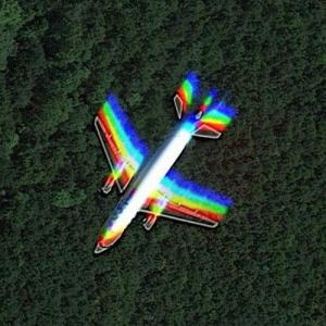 Aircraft in flight north of Paris (Google Maps)