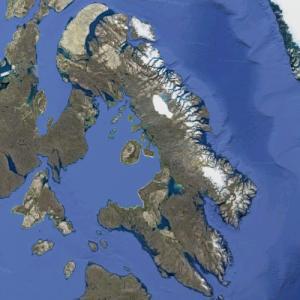 Baffin Island (largest island in Canada) (Google Maps)