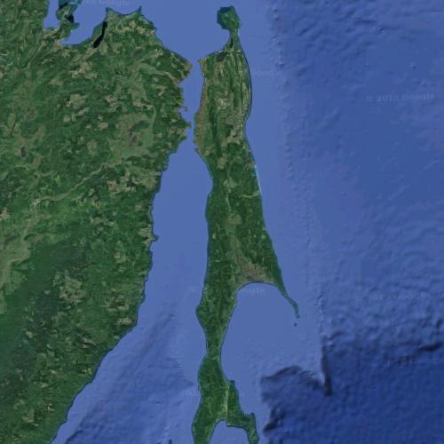 Sakhalin (largest island in Russia) in Tymovskoye, Russian ...