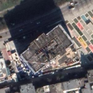DownTown Albania (tallest building in Albania) under construction (Google Maps)