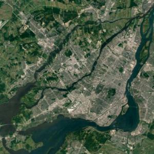 Island of Montreal (Google Maps)