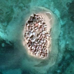 Ilet a Brouee (most densely populated island in the world) (Google Maps)
