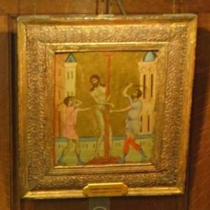"""""""The Flagellation of Christ"""" by Cimabue (StreetView)"""