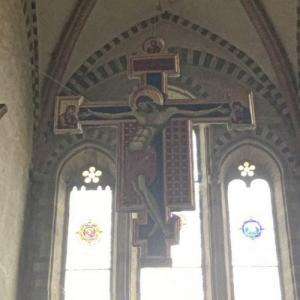 """Crucifix"" by Cimabue at San Domenico Church (StreetView)"