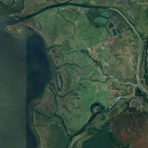Rusnė Island (largest island in Lithuania) (Google Maps)