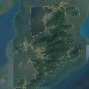 Sinmi Island (largest island in North Korea) (Google Maps)