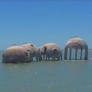 Abandoned White Dome Beach Houses (StreetView)