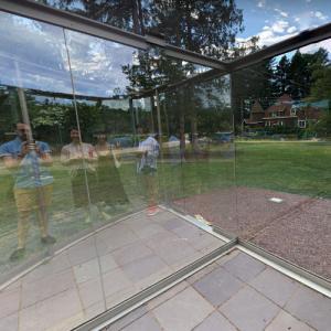'Crazy Spheroid - Two Entrances' by Dan Graham (StreetView)