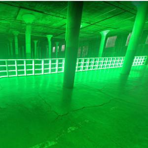 'untitled (to you, Heiner, with admiration and affection)' by Dan Flavin (StreetView)