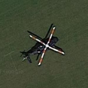 Helicopter landed at Ham Polo Club Grounds (Google Maps)