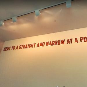 'Bent to a Straight and Narrow at a Point of Passage' by Lawrence Weiner (StreetView)