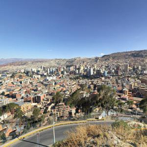 View of La Paz from Mirador de Killi Killi (StreetView)