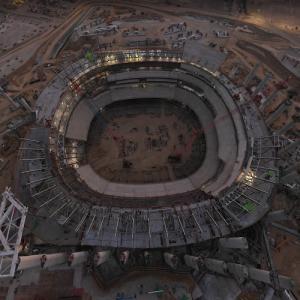 SoFi Stadium under construction (StreetView)